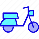 motorbike, motorcycle, scooter, transport, transportation, vehicle, vespa icon