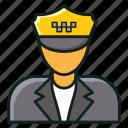 chauffeur, coachman, employee, motorist, taxi driver icon