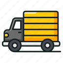 delivery truck, delivery vehicle, goods delivery, logistics, lorry, pickup truck icon