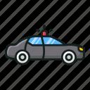 cop car, patrol police car, police car, police transport, police vehicle icon