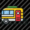 camper van, caravan, conveyance, transport, vanity van, volkswagen icon
