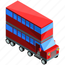bus, decker, double, transport, transportation, vehicle icon