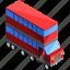 bus, decker, double, transport, transportation, vehicle icon