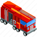 emergency, fire, firetruck, transport, transportation, vehicle icon