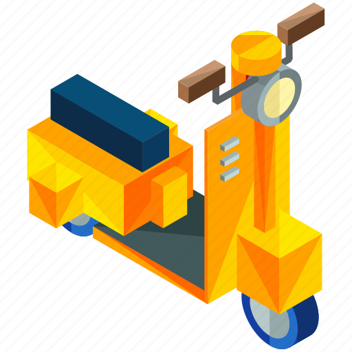 delivery, mopad, scooter, transport, transportation, travel, vehicle icon