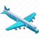 aircraft, airplane, flight, plane, transport, transportation, travel icon