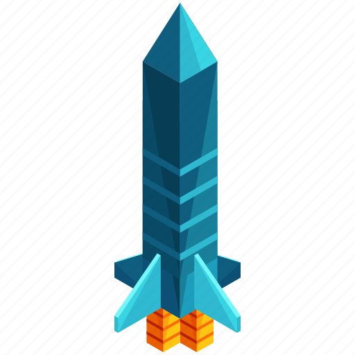 launch, missle, rocket, space, spaceship, transportation icon