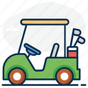 golf cart, golf motor, golf car, golf buggy, cart, golf vehicle, golf icon