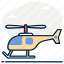 air transport, aircraft, chopper, heli, helicopter, whirly bird icon