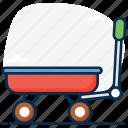 carriage, handcart., pushcart, wagon, wheelbarrow icon