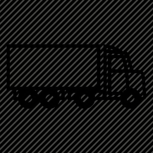 car, trailer, truck icon