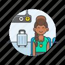 air, passenger, transit, transportation, baggage, fly, travel, woman