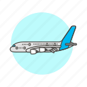 air, airplane, fly, transportation, travel, vehicle icon