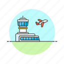 air, airport, fly, transportation, travel, vehicle icon