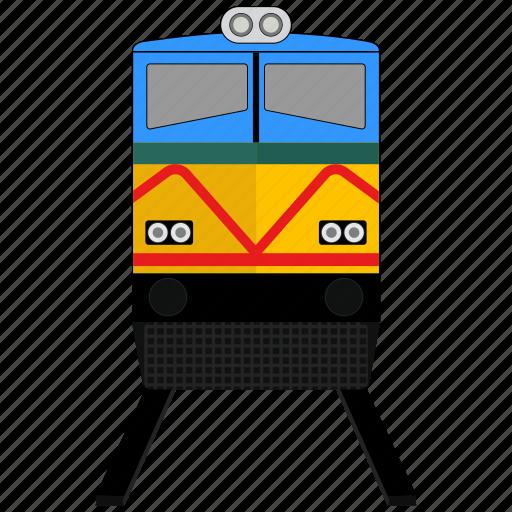 railway, train, transport icon