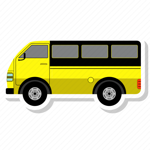 bus, school, transport, van, vehicle icon