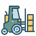 forklift, logistic, transport, warehouse
