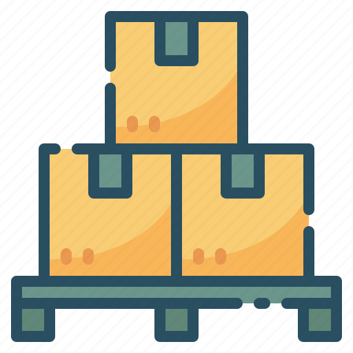 box, delivery, logistic, pallet, warehouse icon