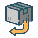 package, return, service, shipping icon