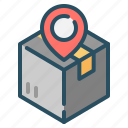 shipment, shipping, tracking, transport icon