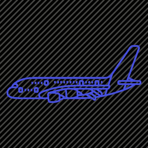 3, aeroplane, air, aircrafts, airplane, aviation, fixed, flight, plane, transportation, wing icon