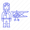 1, aircraft, and, aviation, aviator, man, pilot, pilots, plane, propeller, transportation icon