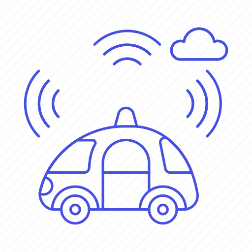 alarm, antenna, autonomous, car, cars, communication, mobile, road, signal, smart, transmitter, transportation icon