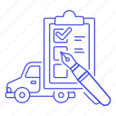 car, checklist, maintenance, mechanic, motor, repair, service, transportation, vehicle icon