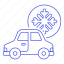 ac, air, car, conditioning, cooling, features, road, snowflake, status, transportation icon