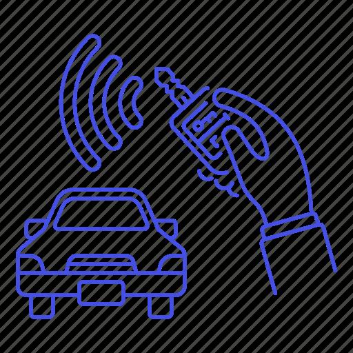 1, car, control, hand, key, land, lock, remote, road, security, transportation, unlock, vehicle icon