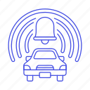 alarm, anti, bell, car, land, road, security, surveillance, system, theft, transportation, vehicle icon