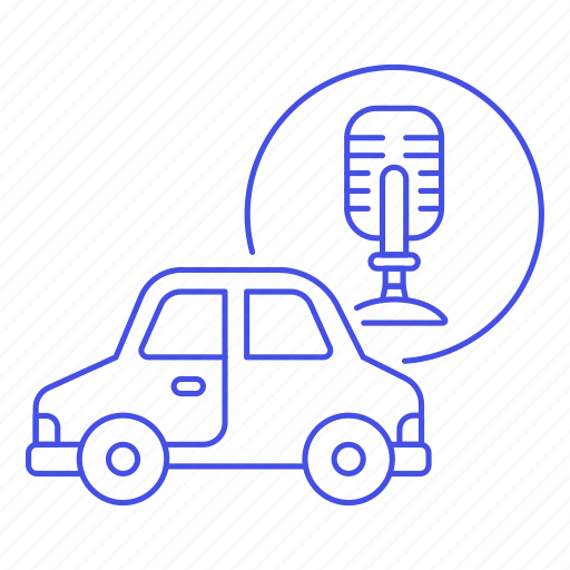 ai, assisted, audio, car, cars, land, recognition, road, smart, system, technology, transportation, voice icon