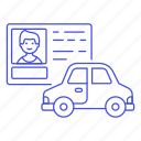 1, car, detailstransport, driver, driving, id, info, license, male, road, transportation icon