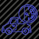 car, dashboard, empty, fuel, gas, gasoline, land, petrol, road, tank, transport, transportation icon