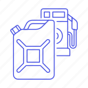 canister, fuel, gas, gasoline, petrol, pump, road, station, tank, transport, transportation icon