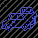 car, fuel, gas, gasoline, land, petrol, pump, road, station, tank, transport, transportation icon