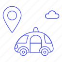 antenna, car, cars, gps, location, pin, road, smart, tracker, transmitter, transportation icon