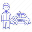 1, commercial, driver, key, male, private, road, taxi, taxicab, transport, transportation icon