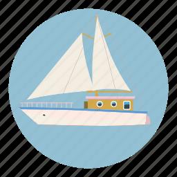 adventure, boat, business, cartoon, club, cruise, speed icon