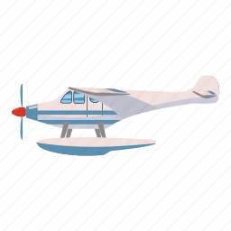 air, aircraft, airplane, aviation, cartoon, coast, hydroplane icon