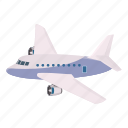aeroplane, air, aircraft, airline, airliner, cartoon, passenger icon