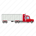 auto, automobile, business, cargo, carrier, cartoon, truck icon