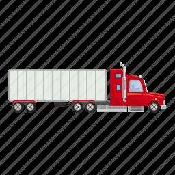 auto, automobile, business, cargo, carrier, cartoon, truck icon