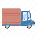 auto, automobile, car, cartoon, commercial, courier, delivery icon