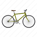 active, activity, bicycle, bike, biking, cartoon, competition icon