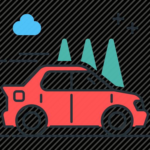 automobile, car, transport, vehicle icon