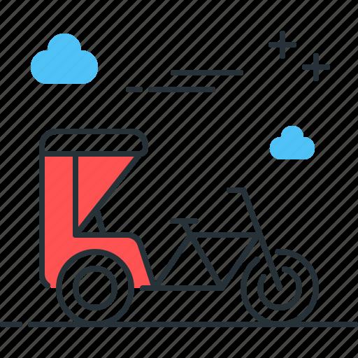 cart, cycle, rickshaw, transportation icon