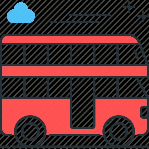 bus, decker, double, london icon