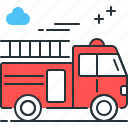 engine, fire, fire engine, fire truck, truck icon