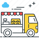 food, truck, cooking, fast food icon